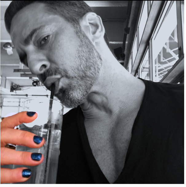 Marc Jacobs, Male polish, nail polish, bright colors, Blue, Red, fashion trends