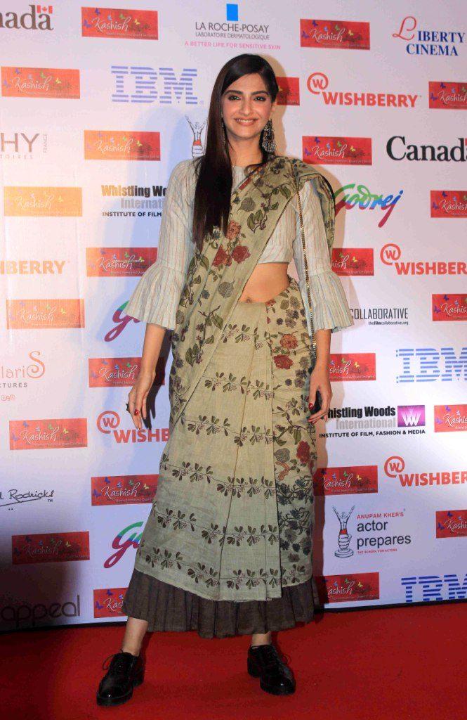 Bollywood actor Sonam Kapoor during the opening ceremony of the 7th Kashish Mumbai International Queer Film Festival in Mumbai, India on May 25, 2016. (Gautam Salvi/SOLARIS IMAGES)